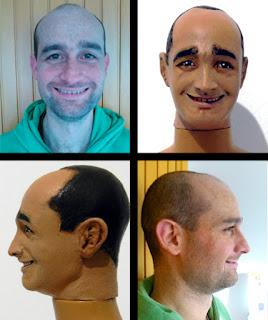 mini ritratti viso personalizzati con la propria faccia orme magiche scultura modellino action figure personalizzata
