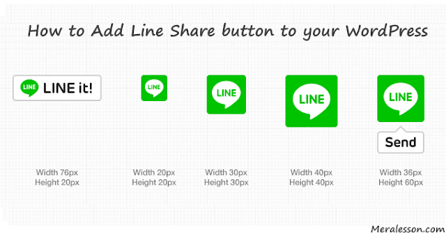 LINE share button WordPress