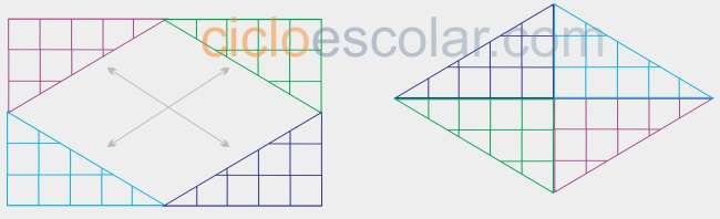 Como calcular el área de un rombo figura 3