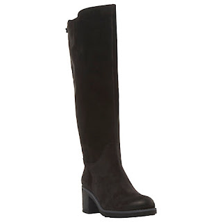 Dune Tibbi Block Heeled Knee High Boots