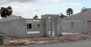 Concrete block home