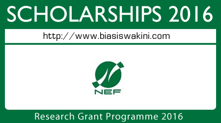 Research Grant Programme 2016