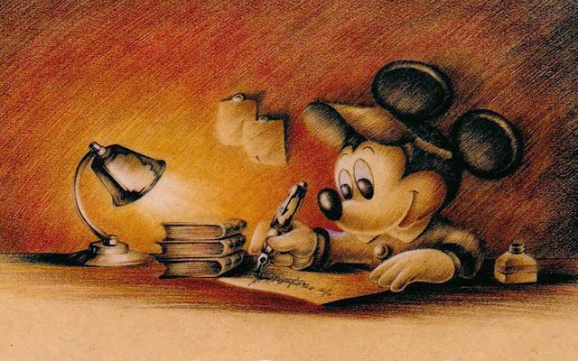Imagen retro Mickey Mouse.