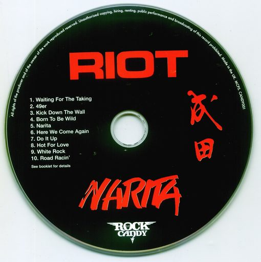 RIOT - Narita [Rock Candy remastered & reloaded] disc