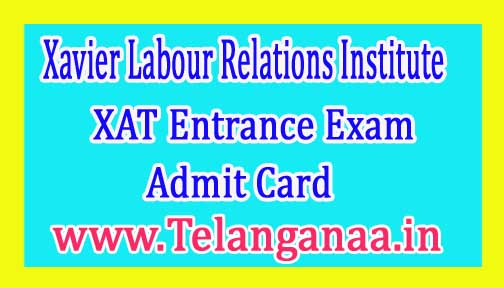 XAT Entrance Exam Admit Card 2018