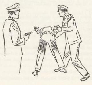 Åstedsundersøkelse og visitering av den mistenkte