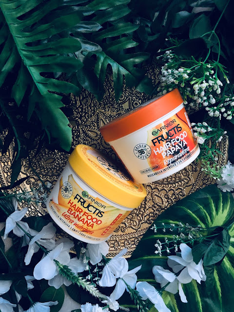 Mascarillas Hair food fructis de Garnier (banana y papaya)