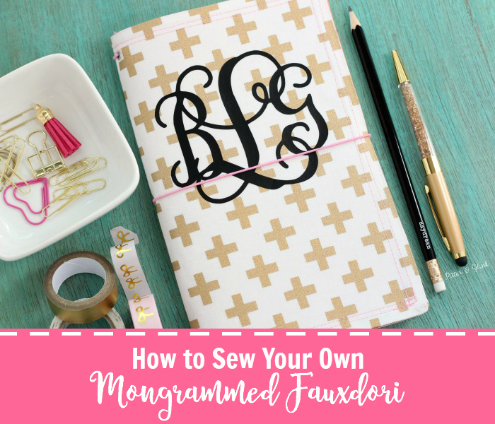 How to Easily Sew Your Own Monogrammed Fauxdori