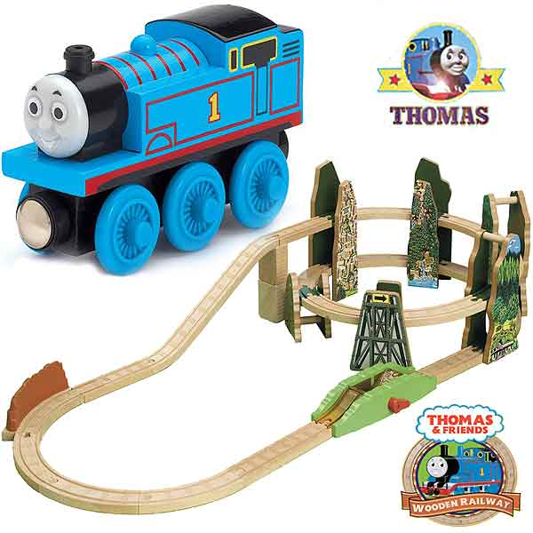 Race Down The Rails Thomas The Train Wooden Railway Playset Train