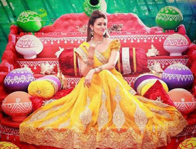 Divyanka Tripathi Wedding Haldi Outfit, Divyanka Tripathi real Wedding pics