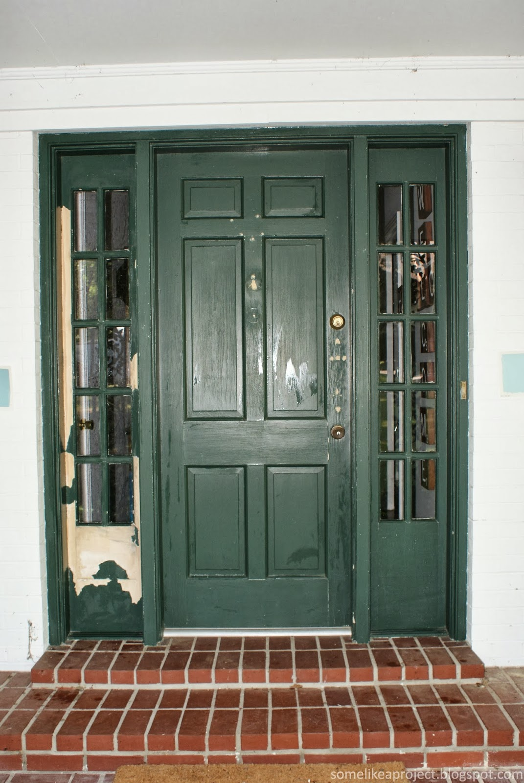 The Left Sidelight Had Some Paint That Was Bubbling Up And So I Led Loose Off Sidelights Front Door