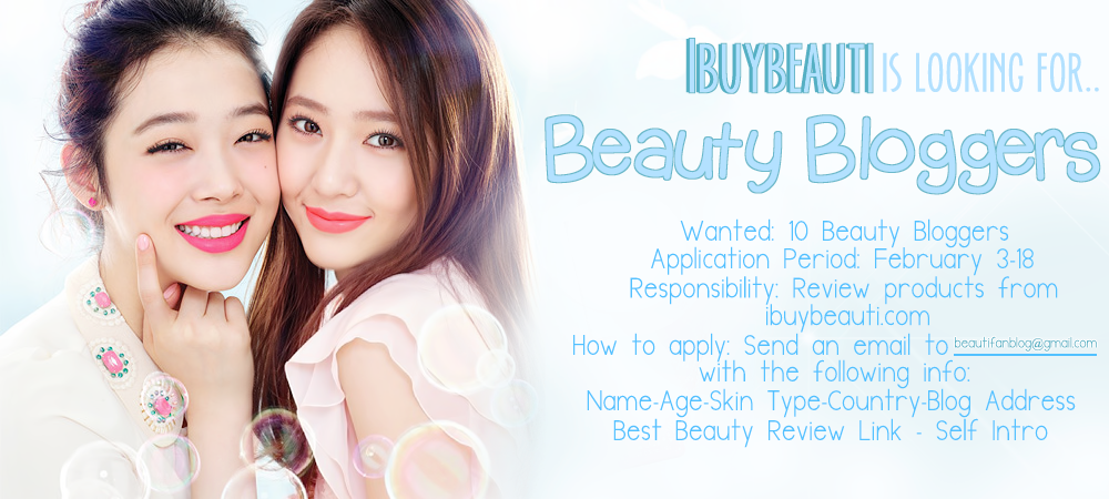 ibuybeauti is looking for 10 bloggers to review Korean