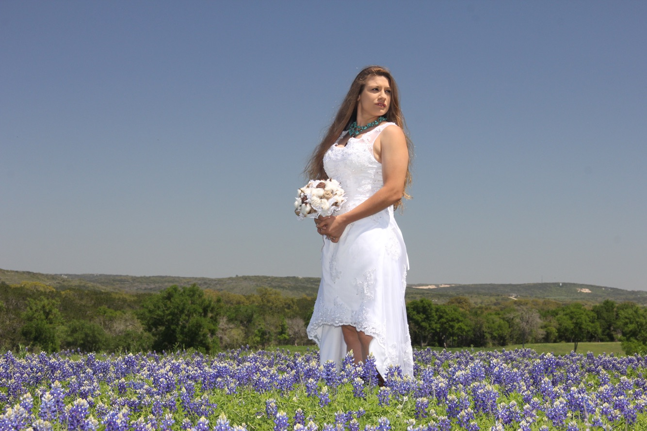 Bluebonnets, Burlap and Cotton