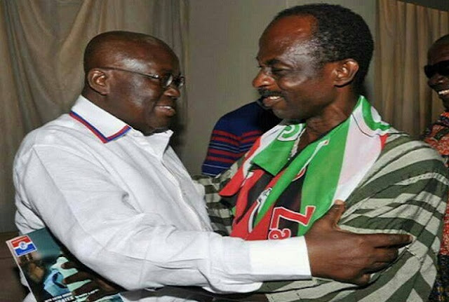 President Akufo-Addo and General Secretary of NDC, Johnson Asiedu Nketia.