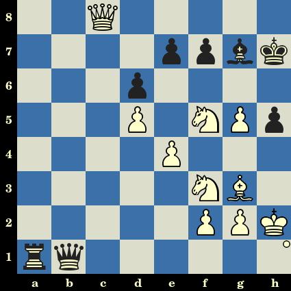 Les Blancs jouent et matent en 4 coups. Alexander Graf vs Abhijit Kunte, Calcutta, 1996
