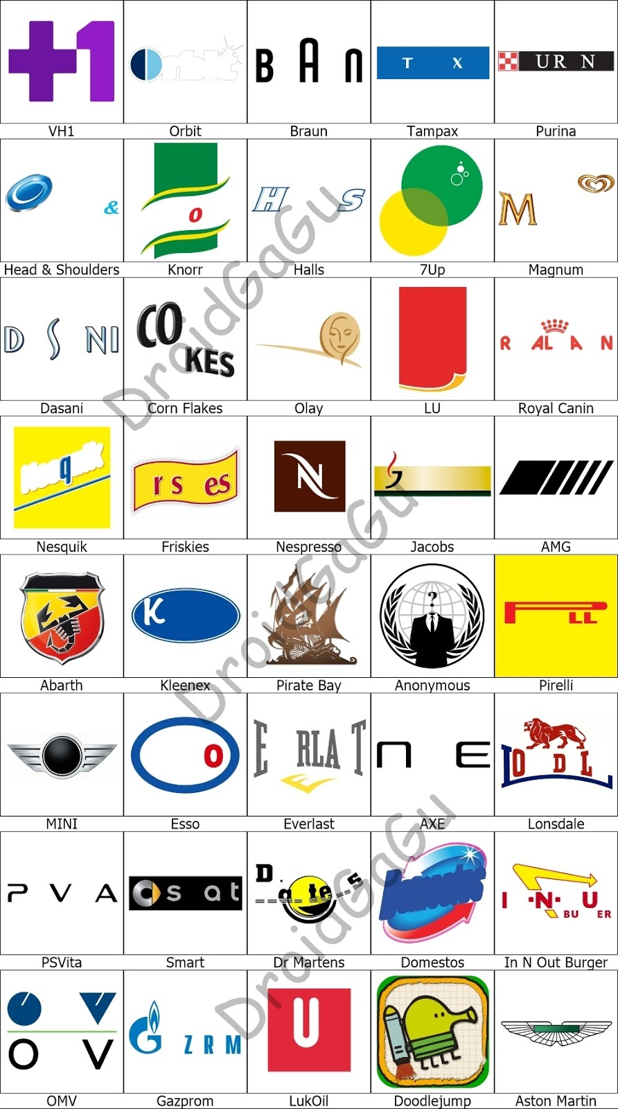 Find The Logo Game