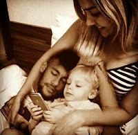 Neymar also began seriously care about fatherhood