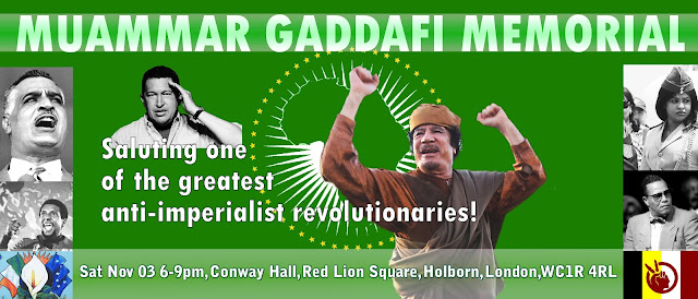 MEMORIAL TO MUAMMAR GADDAFI IN LONDON