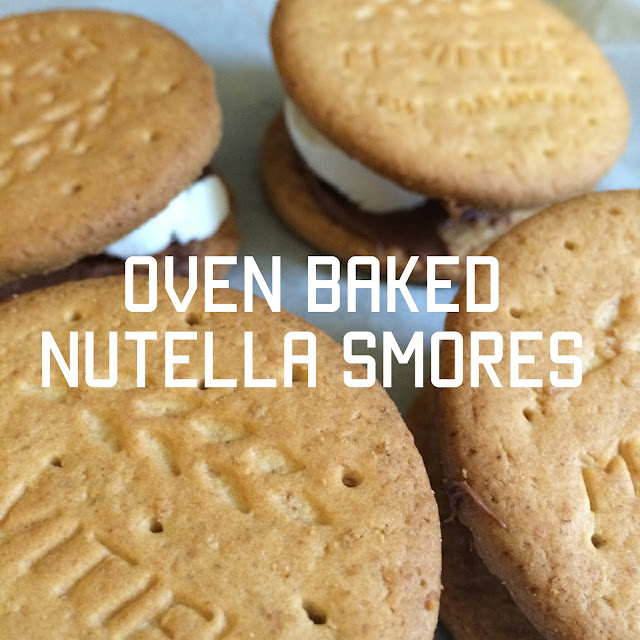 Oven baked Nutella smores