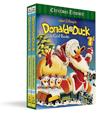pic of Fantagraphics gift box set - Donald Duck Christmas Treasury by Carl Barks