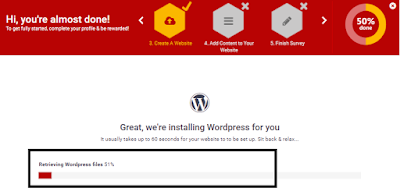 Wordpress Online Installation Step 2