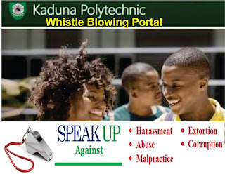 KADPOLY Launches Whistle Blowing Portal For Corrupt Students and Lecturers