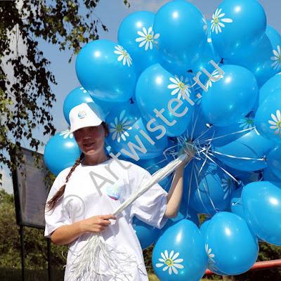 Раздача брендированных воздушных шаров