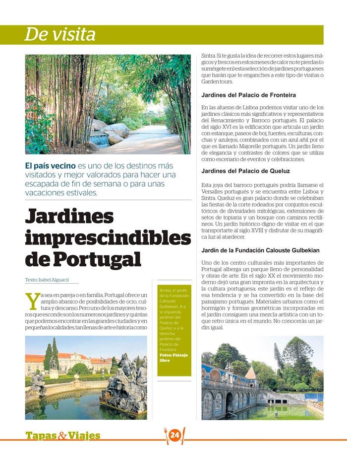 LOS MEJORES JARDINES DE PORTUGAL