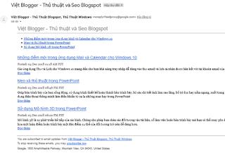Hướng dẫn cấu hình nguồn cấp FeedBurner cho Blogger