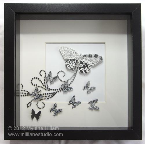 Flourish of Butterflies shadow box