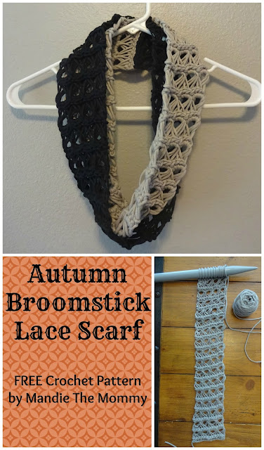 Autumn Broomstick Lace Scarf Free Pattern