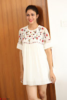 Lavanya Tripathi in Summer Style Spicy Short White Dress at her Interview  Exclusive 232.JPG