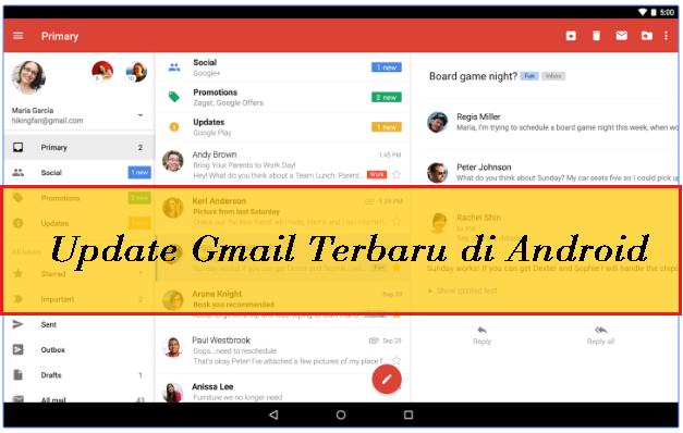 Update Gmail Terbaru di Android