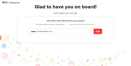 ZohoMail Free Custom Email SignUp Page