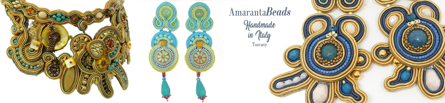 Soutache jewelry - earrings, necklace, bracelet and accessories Made in Italy by Amaranta