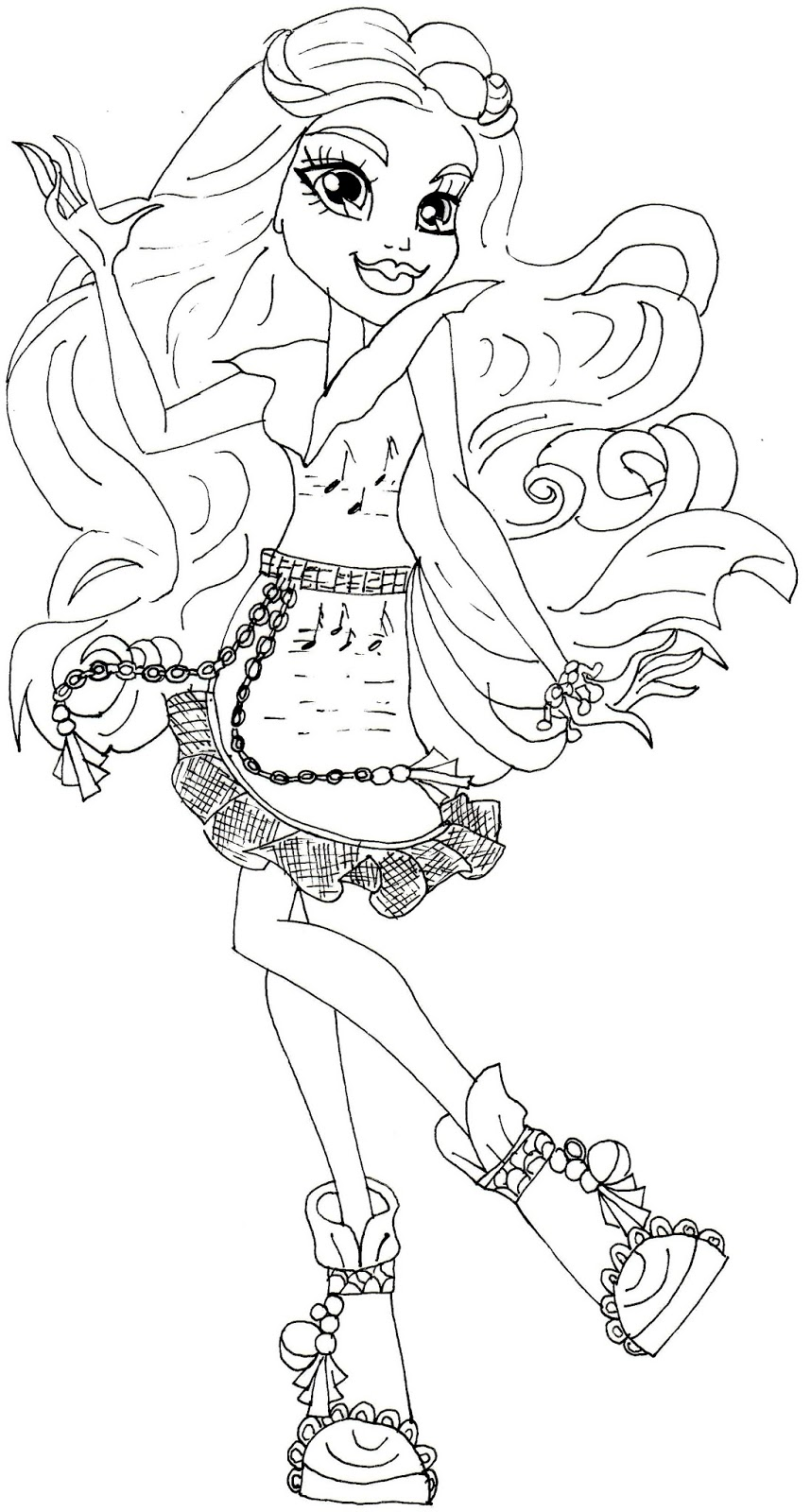 ari hauntington monster high coloring page - Monster High Color Pages Free