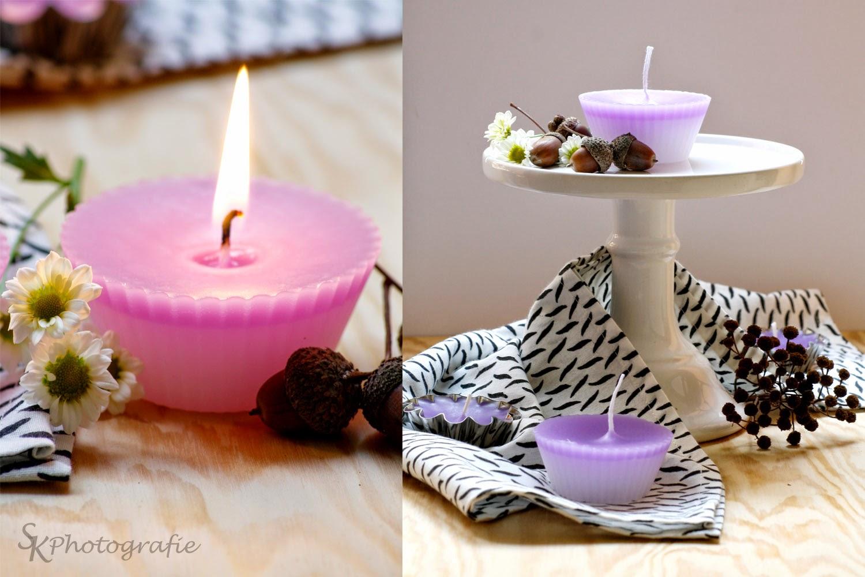 alles und anderes diy selbstgemachte muffin kerzen. Black Bedroom Furniture Sets. Home Design Ideas