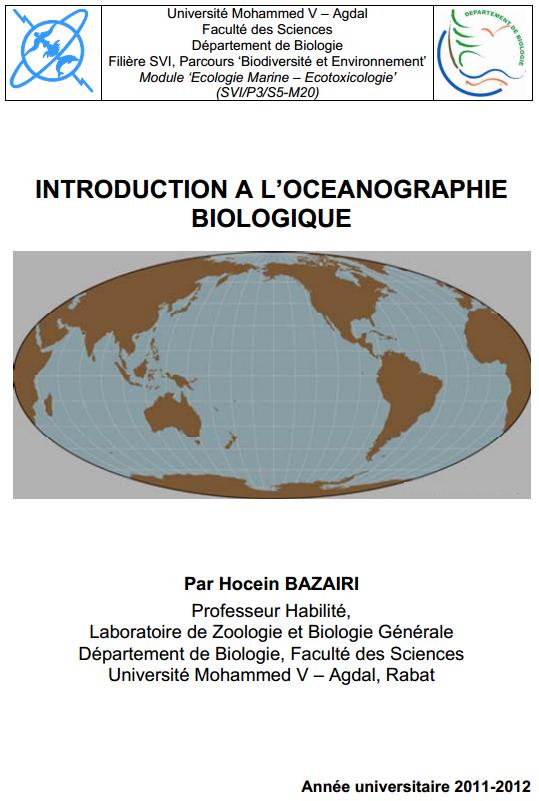 cours l'océanographie biologique