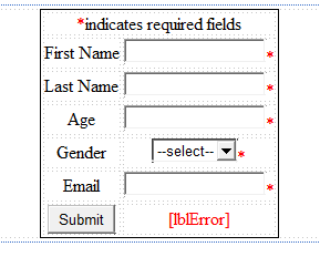 server side validation designer mode