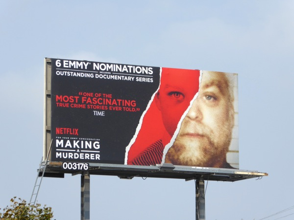 Making a Murderer 2016 Emmy nomination billboard