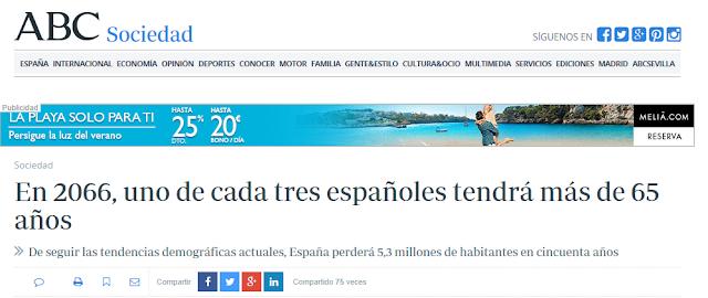 Previsiones poblacion España