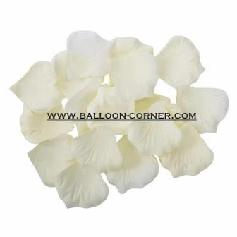 Kelopak Bunga Mawar Tiruan Putih Gading / Ivory Artificial Rose Petals (Small Pack)