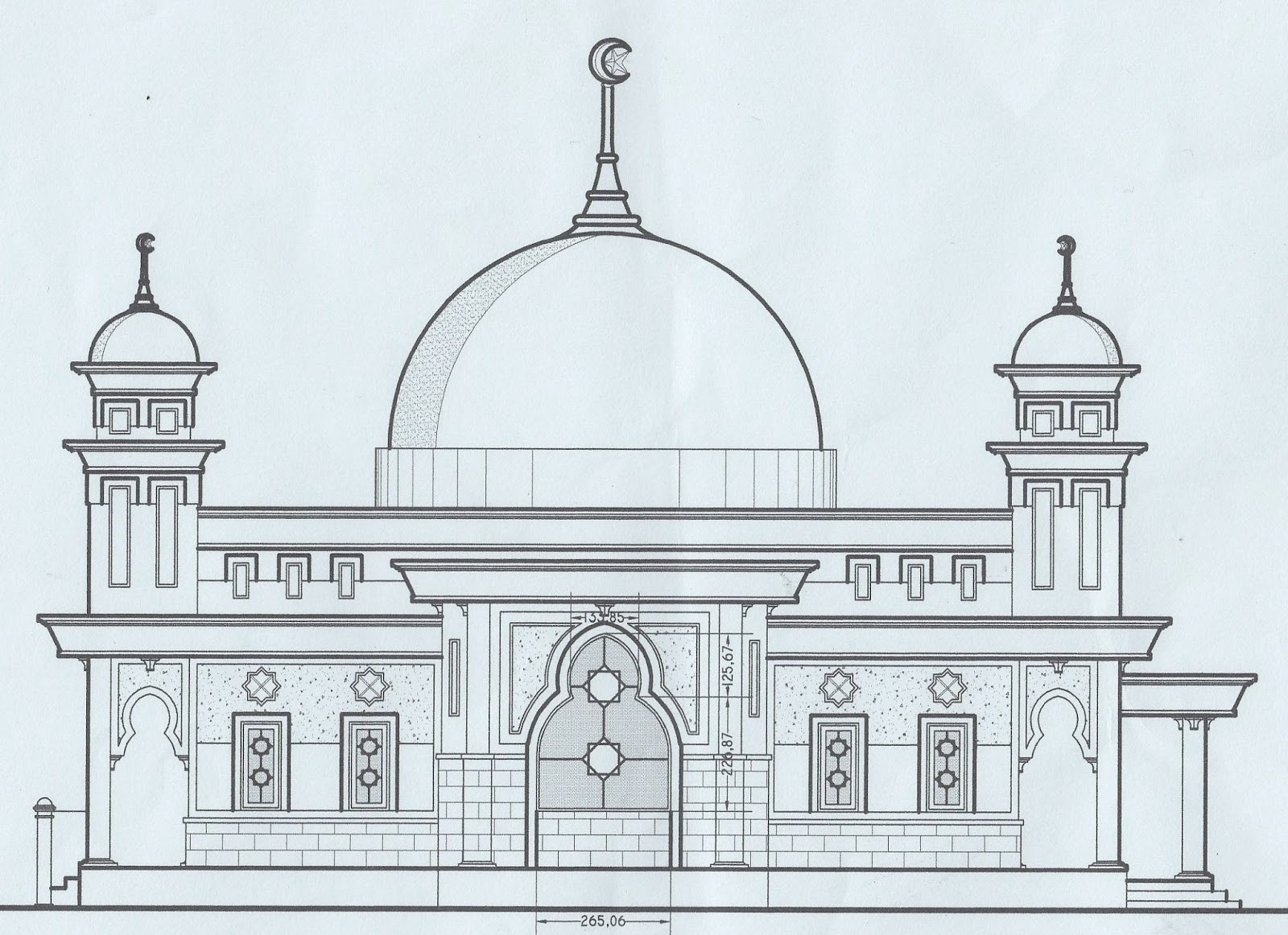 Kumpulan Gambar Sketsa Masjid Simple Sketsa Gambar