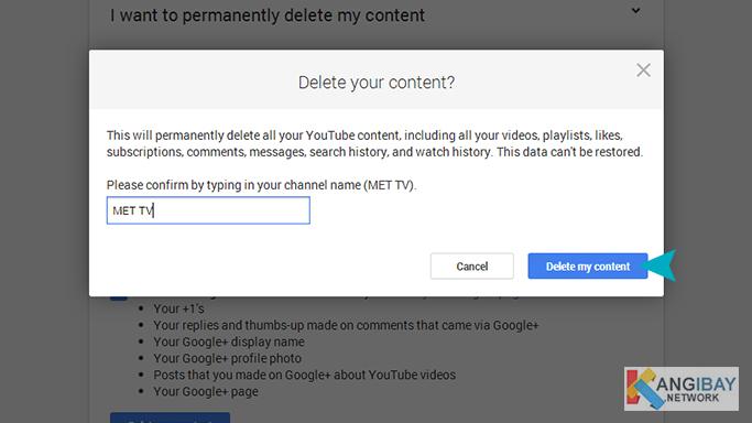 Delete my content