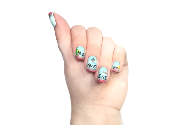 No Mans Sky Nail Art