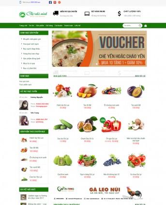 MẪU BÁN HÀNG 033 - shop thực phẩm