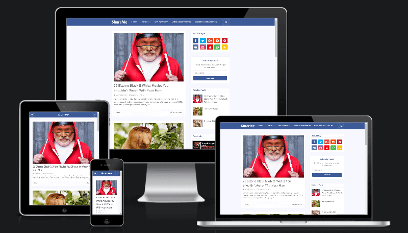 ShareMe Social Media Ready Blogger Template