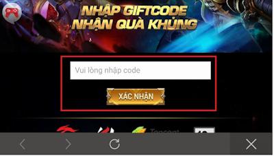 Cách nhập Giftcode Tân Thủ
