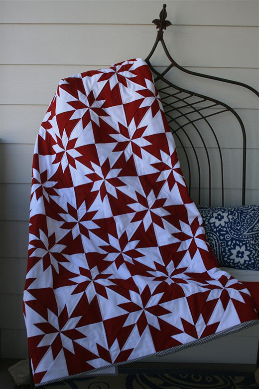 Purple Hunter's Star Quilt by Peggy Gelbrich of Quilt Woman, The Pattern by AccuQuilt