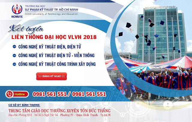 Xét tuyển liên thông Đại học 2018 hình thức VLVH